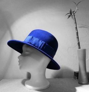blauer Hut, Vitage, Style, Trend, Winter,