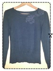 DIY,Spitze,Pullover, selber machen, Weihnachtsgeschenk, gold,fashion, style, trend