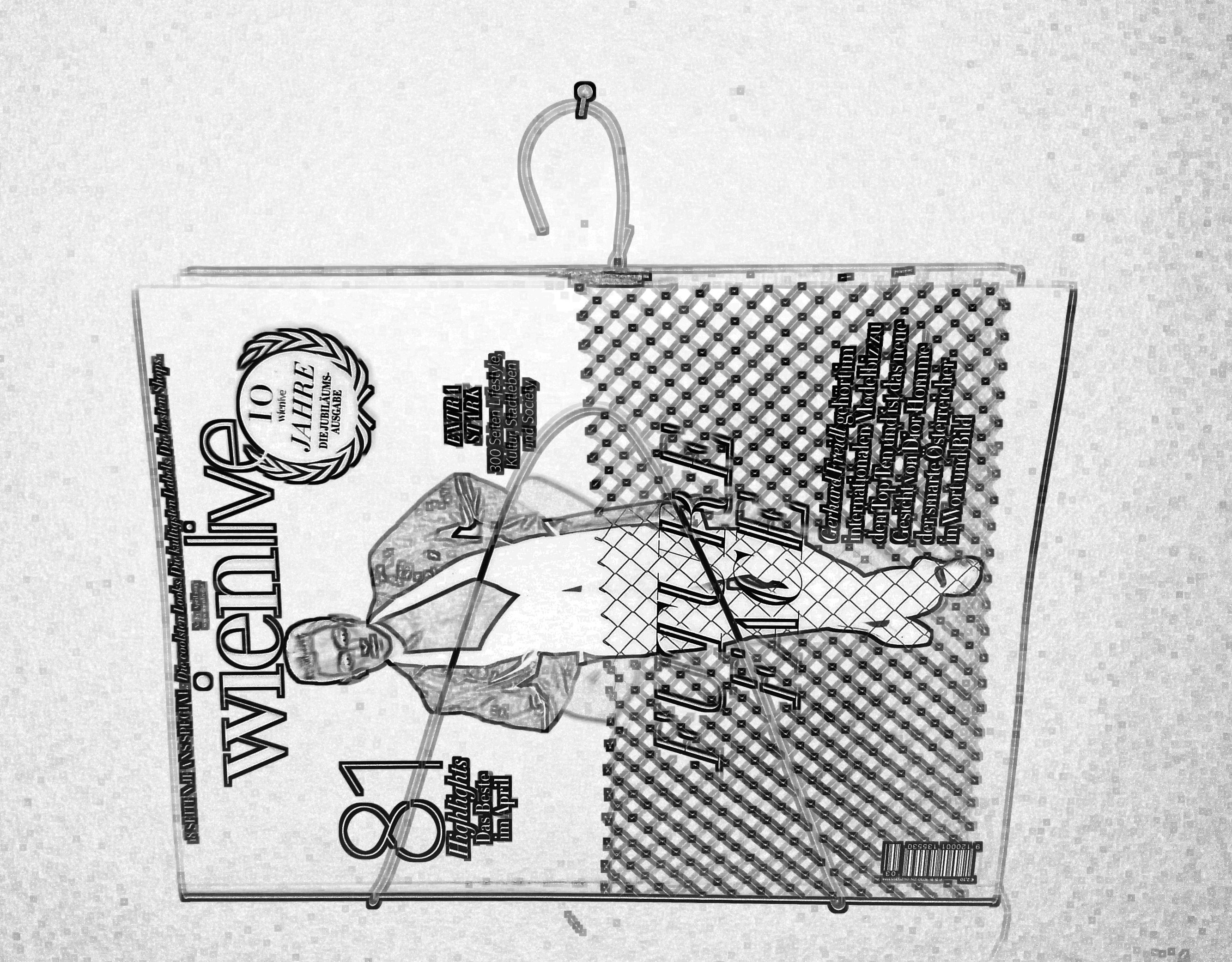 DIY Zeitschriftenhalter, KLeiderhaken